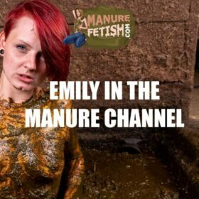 Emily in the manure channel