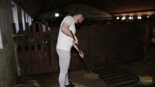 the voice in the cowshed cleaning up